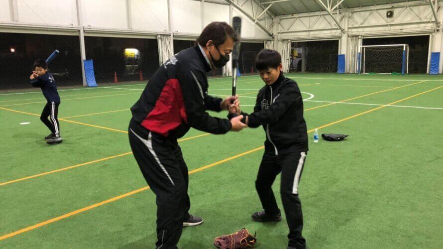 秦真司 個人野球指導を実施