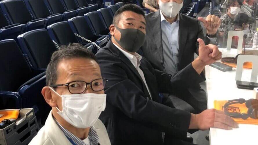7/14 NPB公式戦(前半最終戦)東京ドームレジェンズシートにて飯田哲也が解説